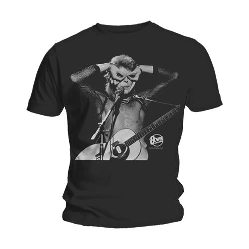 David Bowie acoustics graphic unisex band tee - black