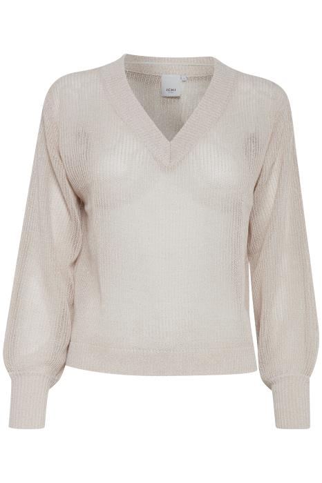 DEBBIE v-neck metallic yarn sweater - crystal pink