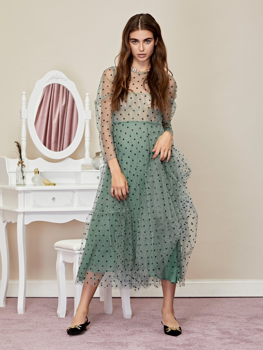 DREAM OF ME midi dress - green