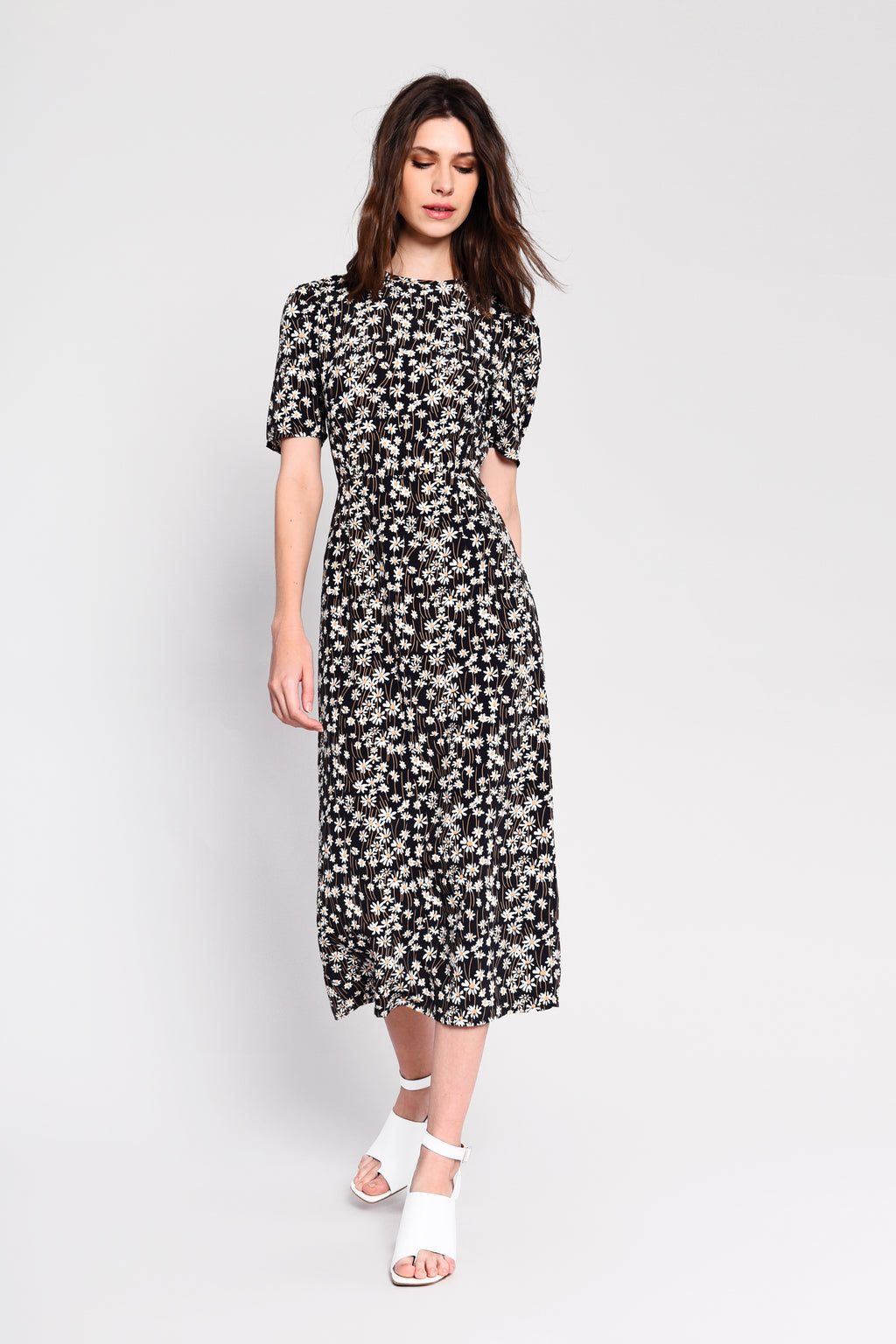 Ditsy floral midi dress