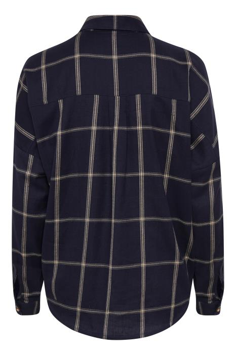 ELHAM check shirt - navy