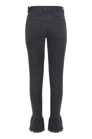GULIP washed black belted jeans