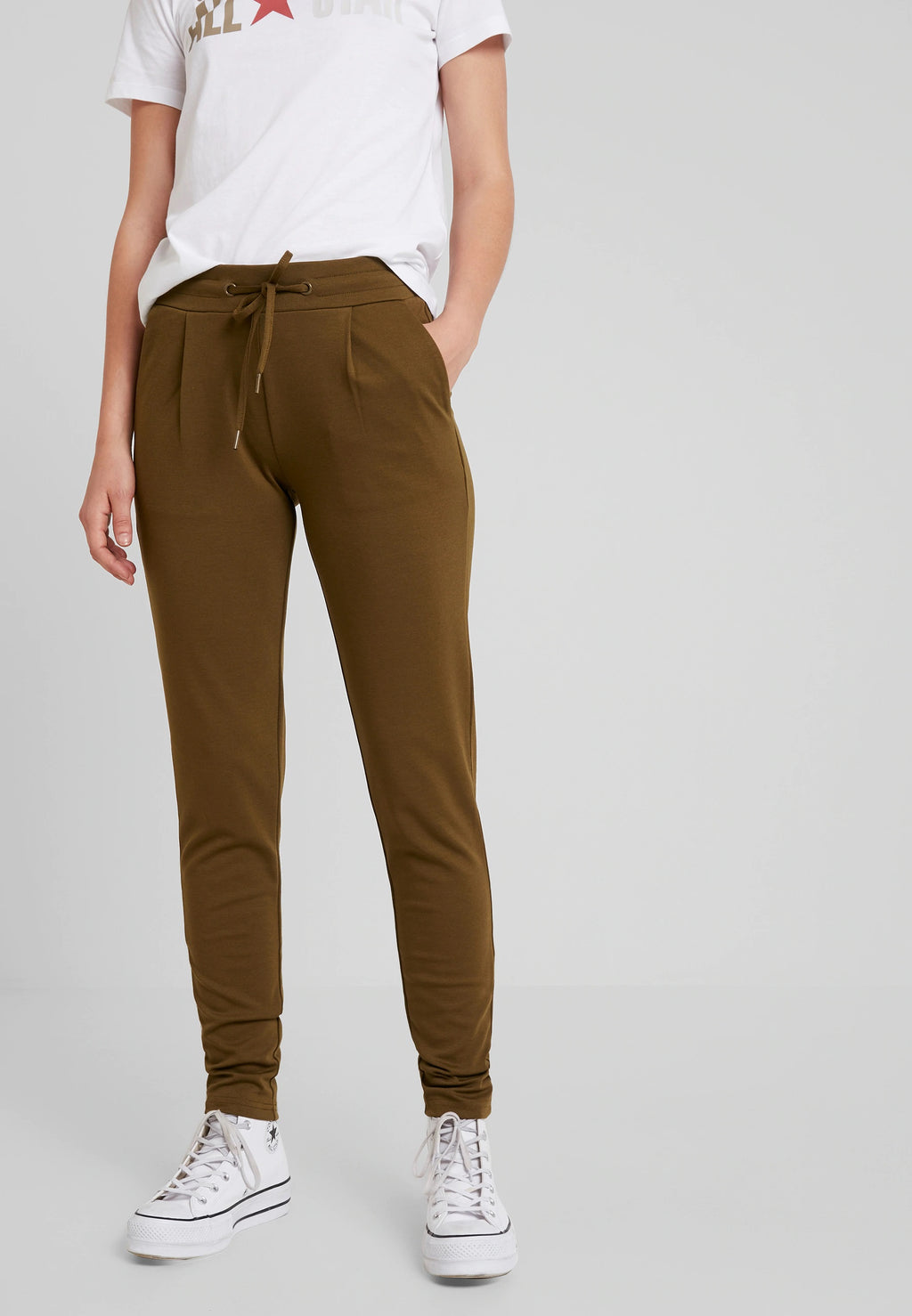 KATE PA trousers - dark olive