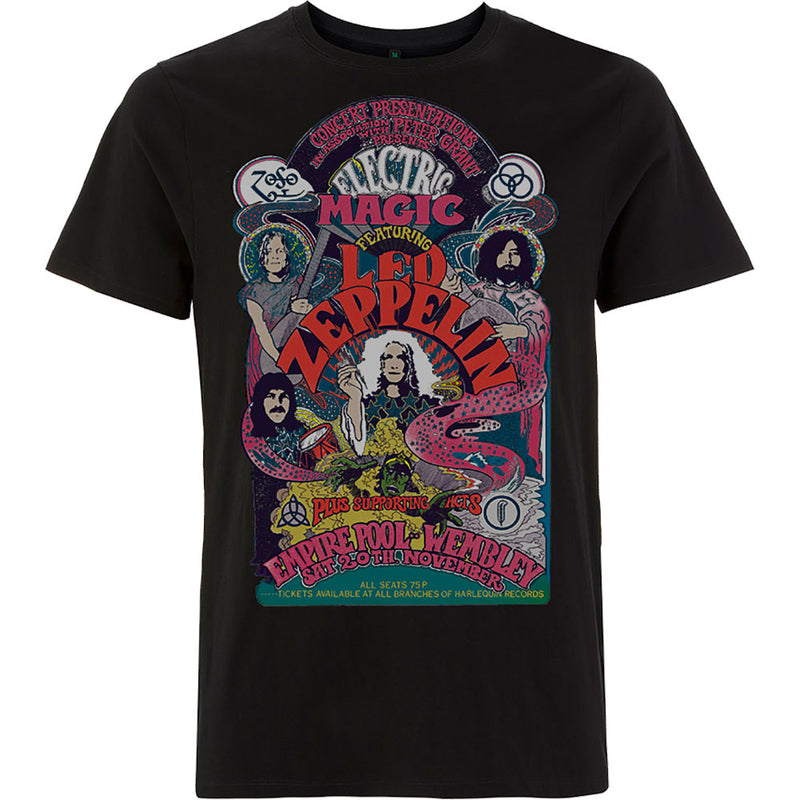 We've a 'Whole Lotta Love' for this epic tour t-shirt featuring an iconic Led Zeppelin electric magic tour poster from the 70s - black.