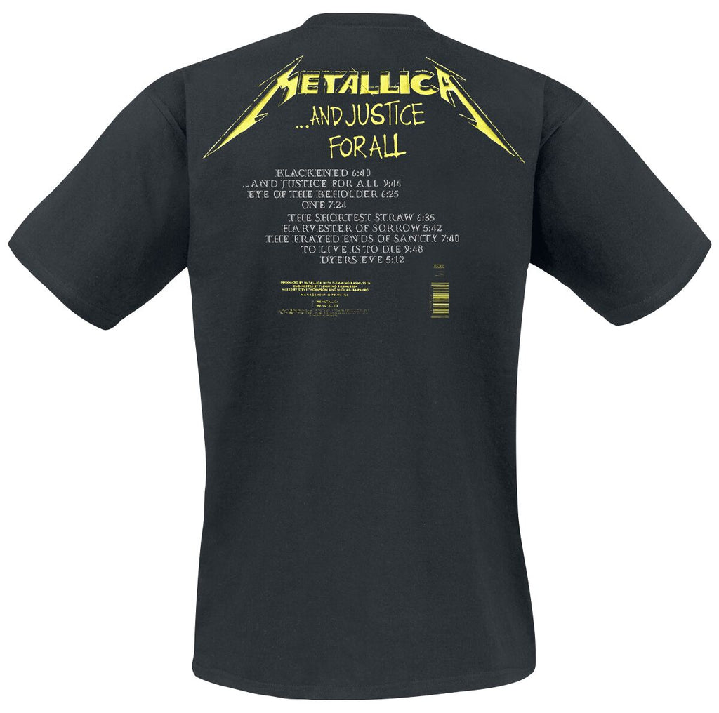 Metallica 'Justice For All' graphic band tee - black