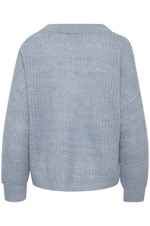 MONTANA knitted pullover - faded denim
