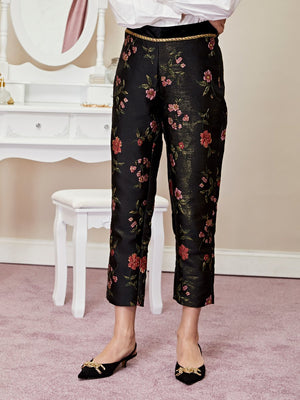 MOON FLOWER ciggy pants - black