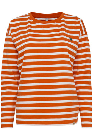 OLINE striped long sleeve top