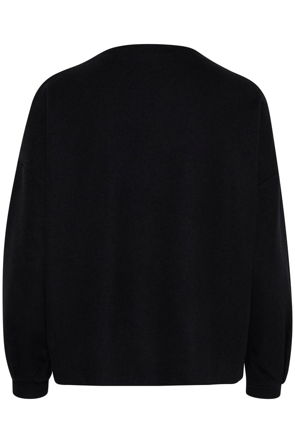 OMMI embroidered 'take it easy' sweatshirt - black