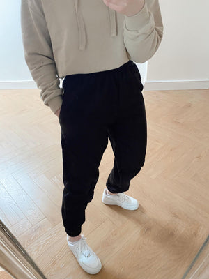 Oversized Fleece Joggers - Black