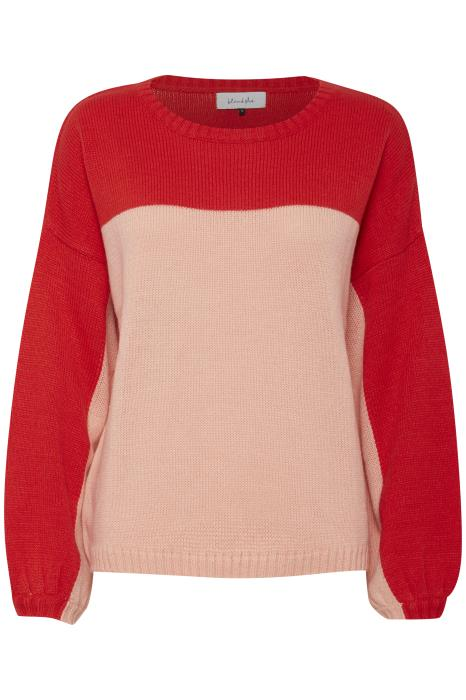 PENNY red and pink knit