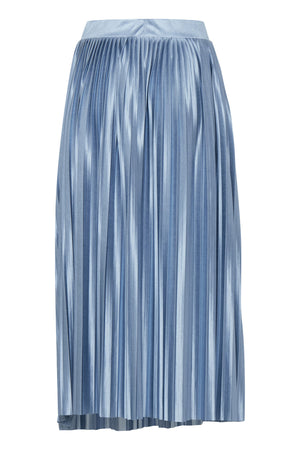 PLEAT midi pleated skirt - blue shadow