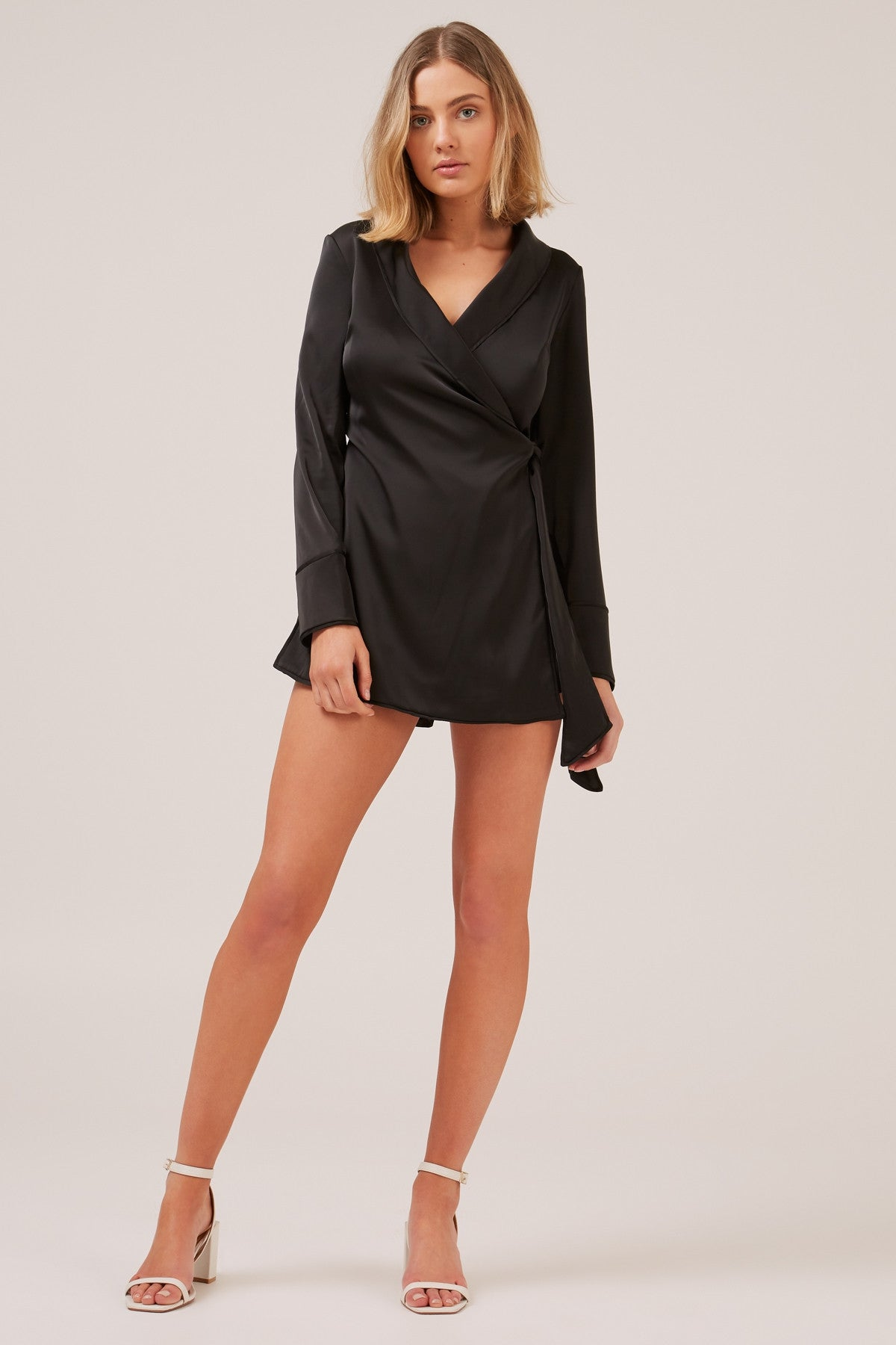 fcd1e6a8ceb SIMPLE THINGS silky wrap style playsuit - black – Uptown BIBI
