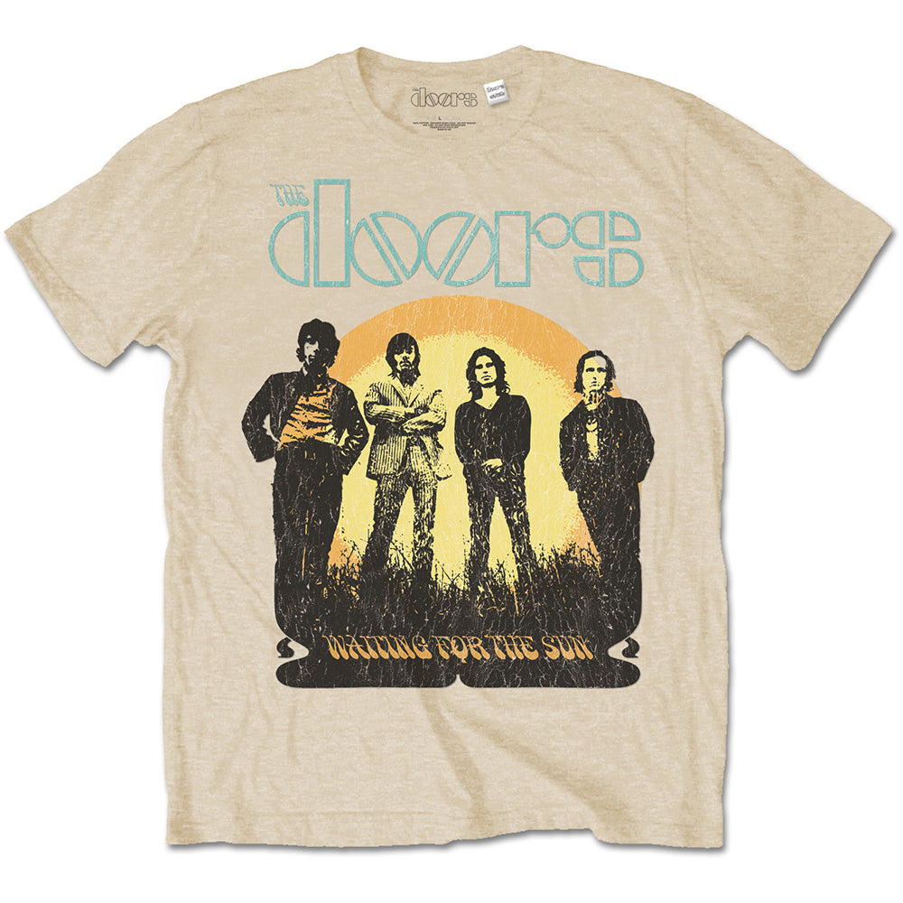 The Doors waiting for the sun front graphic band tee.