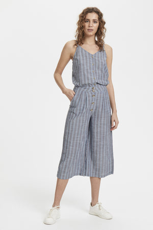 TULLE PA co-ord button down high waisted cropped pants