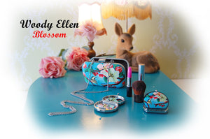 Woody Ellen Blossom Clutch Box Bag