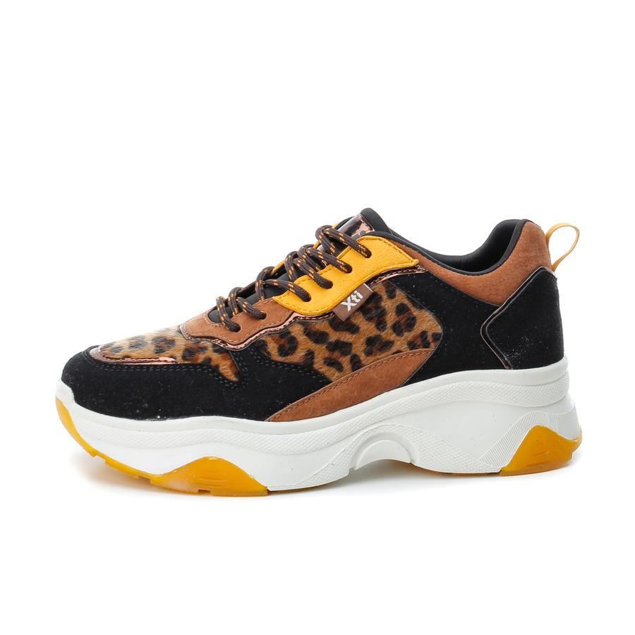 Panama leopard chunky sneakers