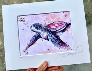 Open image in slideshow, Turtle Print - Purple Hue