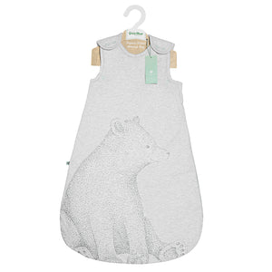 The Little Green Sheep Wild Cotton Organic Sleeping Bag - 2.5 Tog Bear - Green Monkeys