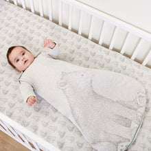 Load image into Gallery viewer, The Little Green Sheep Wild Cotton Organic Sleeping Bag - 2.5 Tog Bear - Green Monkeys