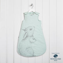 Load image into Gallery viewer, The Little Green Sheep Wild Cotton Organic Sleeping Bag - 2.5 Tog Rabbit - Green Monkeys