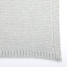 Carica l'immagine nel visualizzatore di Gallery, The Little Green Sheep Organic Knitted Cellular Baby Blanket - Dove - Green Monkeys