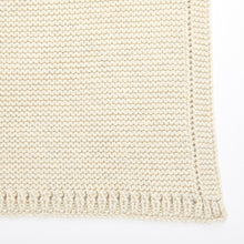 Load image into Gallery viewer, The Little Green Sheep Organic Cellular Knitted Baby Blanket - Linen - Green Monkeys