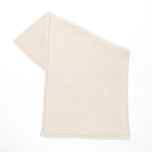 The Little Green Sheep Organic Cellular Knitted Baby Blanket - Linen - Green Monkeys