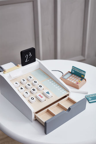 Kids Concept Cash Register - Green Monkeys