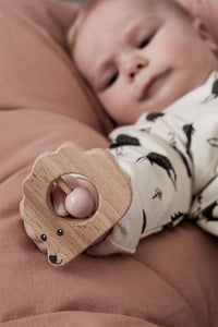 Kids Concept Rattle Hedgehog Edvin - Green Monkeys