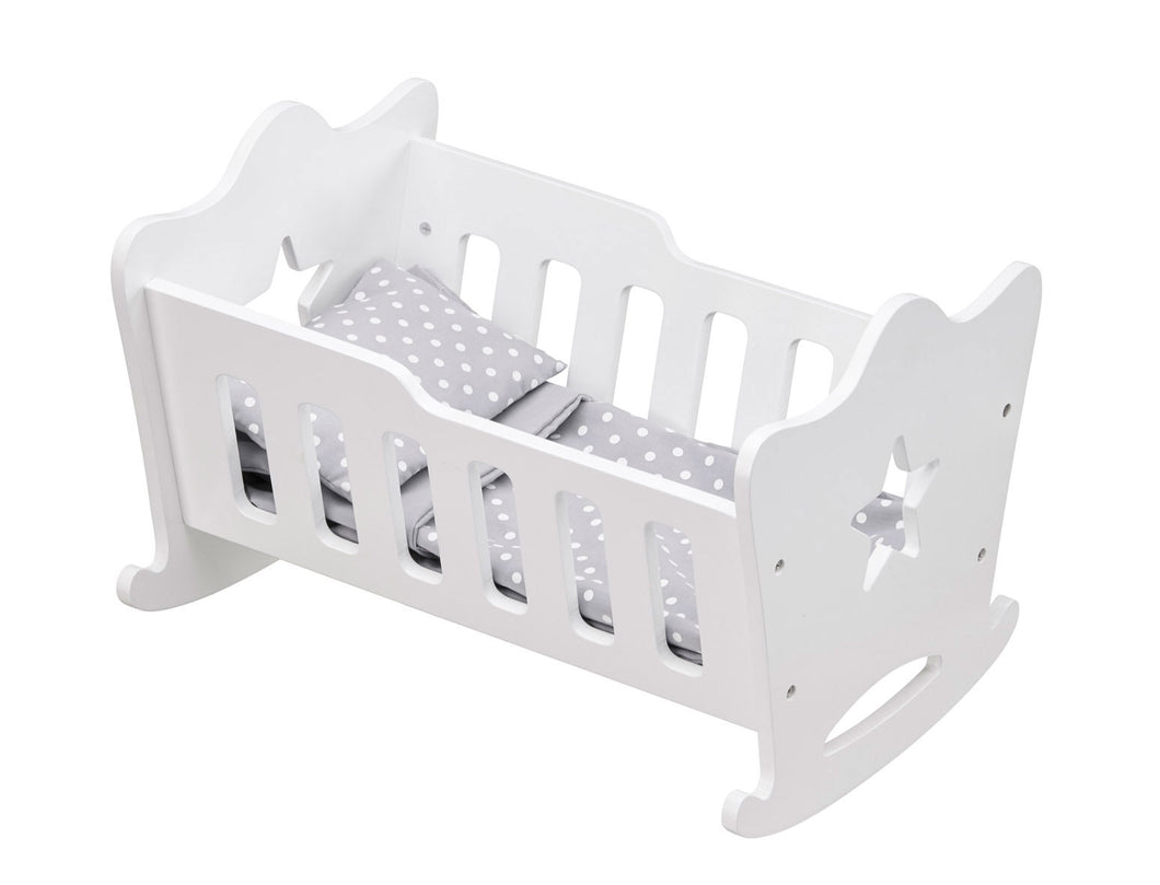 Kid's Concept Doll's Cradle - Green Monkeys