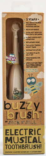 Buzzy Brush Musical Electric Toothbrush - VERSION 2 - Green Monkeys