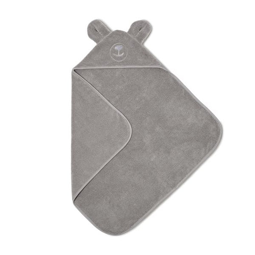 The Little Green Sheep Organic Hooded Baby Towel - Bear - Green Monkeys
