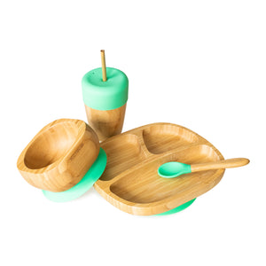 Eco Rascals Bamboo Spoons for Babies and Toddlers - 3 pack (yellow, green, pink)