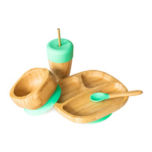 Load image into Gallery viewer, Eco Rascals Bamboo Toddler Bowl and Spoon Set - Green