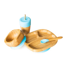 Load image into Gallery viewer, Eco Rascals Bamboo Toddler Bowl and Spoon Set - Blue