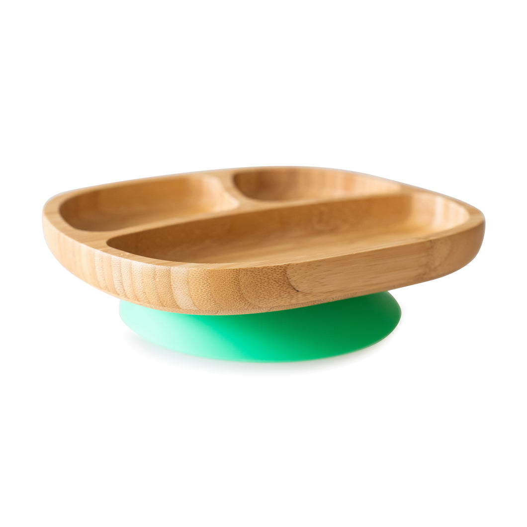 Eco Rascals Bamboo Toddler Plate - Green