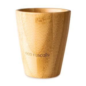 Eco Rascals Bamboo Cup (190ml) with silicone sippy cup topper  - Green
