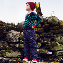 Laden Sie das Bild in den Galerie-Viewer, Muddy Puddles Ecosplash Trousers Navy - Green Monkeys