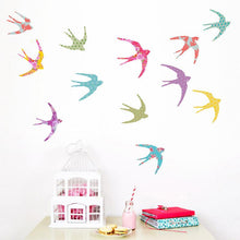 Load image into Gallery viewer, Shanghai Swallows Wall Stickers - more stock coming soon - Green Monkeys