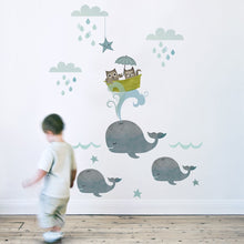 Load image into Gallery viewer, Koko Kids Owl & Pussycat Wall Stickers - Green Monkeys