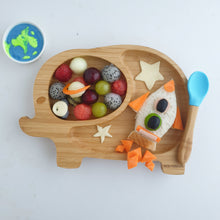 Charger l'image dans la galerie, Eco Rascals Bamboo Toddler Plate - Blue Elephant Design