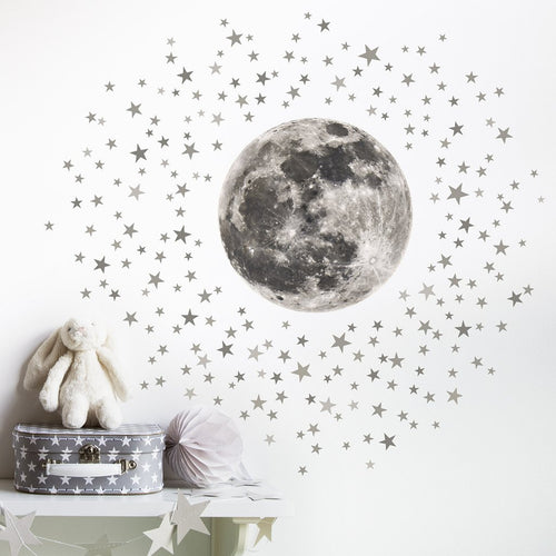 Little Moon & Stars Wall Sticker - Two colours available - Green Monkeys