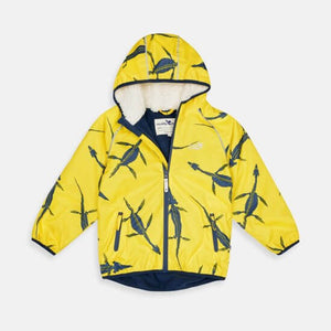 Ecosplash Fleece Lined Jacket Fossil Inspired - Green Monkeys