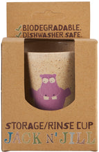 Load image into Gallery viewer, Jack N' Jill Rinse/Storage Cup - HIPPO - Green Monkeys