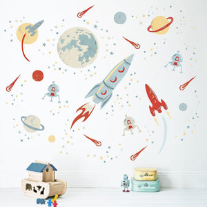 Space Rocket Wall Sticker - Two colours available - Green Monkeys