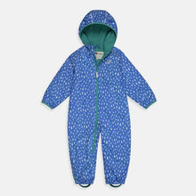 Load image into Gallery viewer, Muddy Puddles Ecosplash Fleece-Lined All-In-One, Raindrop Print - Green Monkeys