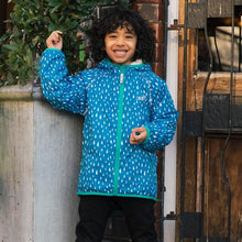 Load image into Gallery viewer, Ecosplash Fleece Lined Jacket Blue Raindrop - Green Monkeys