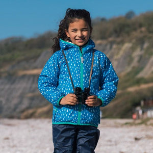 Ecosplash Fleece Lined Jacket Blue Raindrop - Green Monkeys