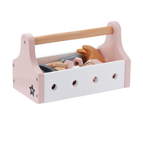 Kids Concept Pink Toolbox - Green Monkeys
